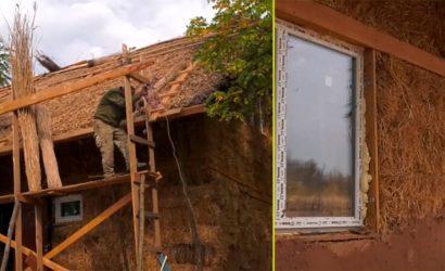 Крыша – из камыша: В Константиновке ветеран АТО живет в мазанке (Видео)